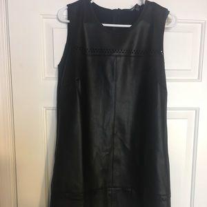 Vegan leather dress